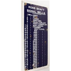 Ross Shaft Signal Bells Metal Sign