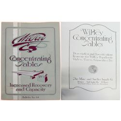Rare Wilfley Concentrating Tables Catalog