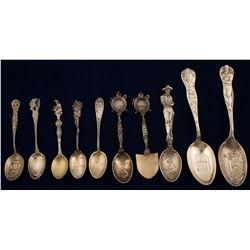 Silver Souvenir Spoons (10)