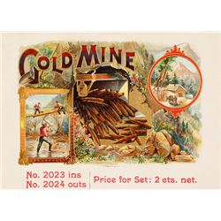 Original Cigar Label Proof: Gold Mine