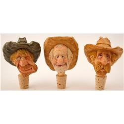 Three Cork Stoppers by Chris Hammack