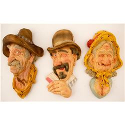 Three Scovel Wall Caricatures