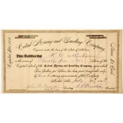 Cedral Mining & Smelting Company Stock Certificate 2