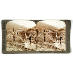 Stereoview of Gold Miners in Klondike Country