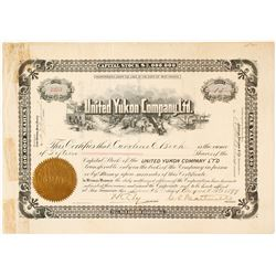 United Yukon Company, Ltd. Stock Certificate, 1899