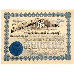 Alaska-Klondyke Gold Mining & Development Co. Stock Certificate, 1897