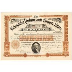 Klondike-Yukon & Copper River Company Stock Certificate, 1897