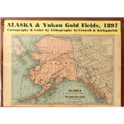 Map of Alaska & Yukon Gold Fields