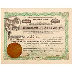 Turnagain Arm Gold Mining Co. Stock Certificate, 1905