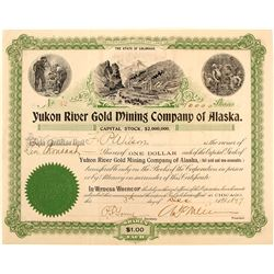 Yukon River Gold Mining Co. of Alaska Stock Certificate, 1897