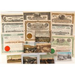 Bisbee, Arizona Mining Collection: Stocks and Postcards
