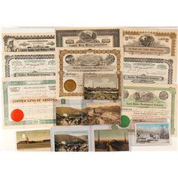 Bisbee, Arizona Mining Collection: Stocks and Postcards