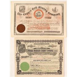 Copper Belt and Mingus Mountain Stock Certificates