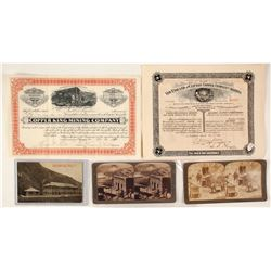 Clifton Mining Stock, Stereoview and Postcard Group
