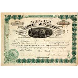 Globe Copper Mining Company Stock Certificate