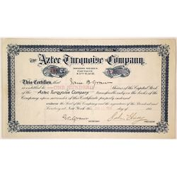 Choice, Rare Arizona Turquoise Mining Stock Certificate
