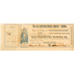 San Augustine Mining Company of Arizona Stock Certificate