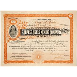 Copper Belle Mining Company Stock Certificate