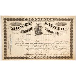 Mowry Silver Mining Company Stock Certificate
