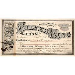 Silver King MIning Company Stock Certificate