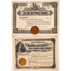 Two Rich Hill Mining Stock Certificates