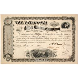 Choice Patagonia Silver MIning Company Stock Certificate