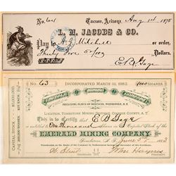 Emerald Mining Company Stock Certificate: EB Gage Signature