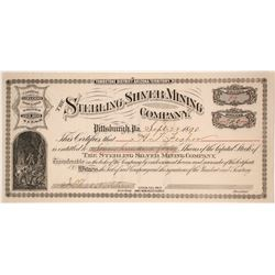 Sterling Silver Mining Company Stock Certificate