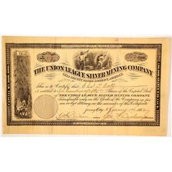 Union League Silver Mining Company Stock Certificate