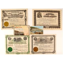 Four Jerome / Verde Mining Stock Certificates