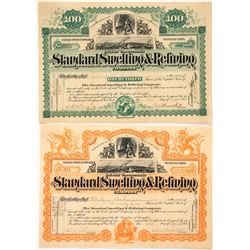 Two Different Standard Smelting & Refining Company Stock Certificates