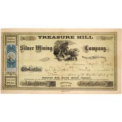 Very Early Treasure Hill Silver Mining Company Stock Certificate