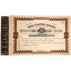 Castle Dome Mining & Smelting Company Unused Stock Certificate Book