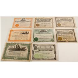 Eight Arizona Mining Stock Certificates