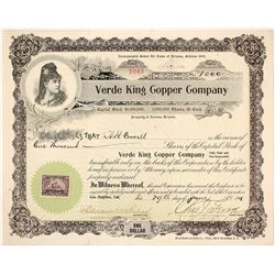 Verde King Copper Company Stock Certificate