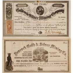 Silver Mountain, Alpine County, California Mining Certificates (2)
