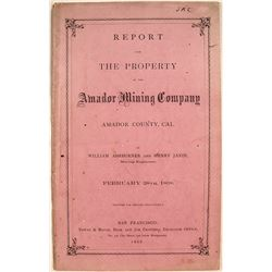 Report of the Amador Mining Company, 1868