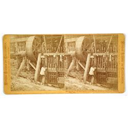 Mining Scenes in California--Stamps of the first Quartz Crushing Mill erected in California