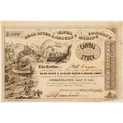 Bear River & Auburn Water & Mining Company Stock Certificate
