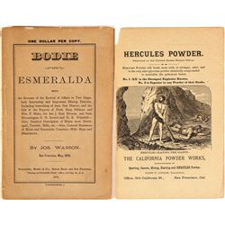 Bodie & Esmeralda, 1878, Booklet
