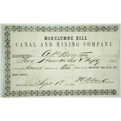 Mokelumne Hill Canal & Mining Company Share Purchase Receipt