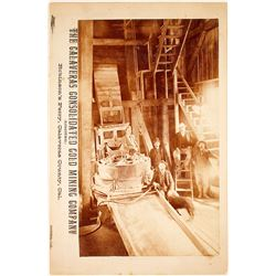 Rare Mill Photograph, Robinson's Ferry, Calaveras Consolidated Gold Mining Company