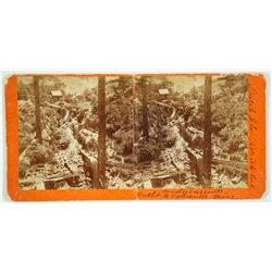 Dutch Flat Mining District, Cal. Undercurrents- Outlet to Hydraulic Mine Stereoview