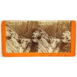 Outlet to Hydraulic Mine, Dutch Flat District, Cal. Stereoview