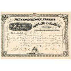 Georgetown Eureka Mining Company Stock Certificate, Georgetown, CA, 1883
