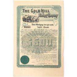 Gold Hill Mining Company $500 Bond