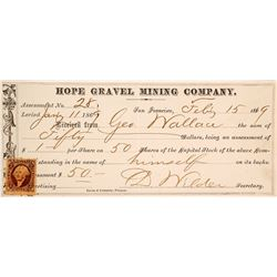 Hope Gravel Mining Co. Assessment, Grass Valley, 1869