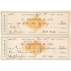 Two New York Hill Gold Mining Co. Revenue Checks