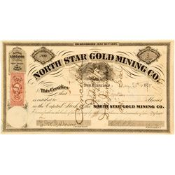 North Star Gold Mining Co. Stock Certificate, 1870