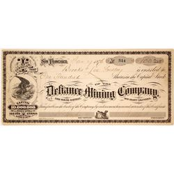 Defiance Mining Company Stock Certificate